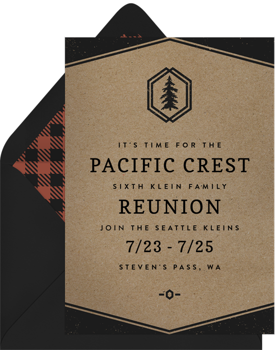 Hip Rustic Family Reunion Invitations from Greenvelope