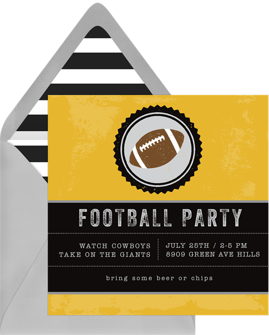 Game Time Family Reunion Invitations from Greenvelope