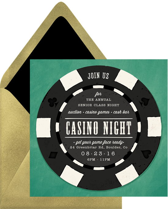 Poker Chip Family Reunion Invitations from Greenvelope