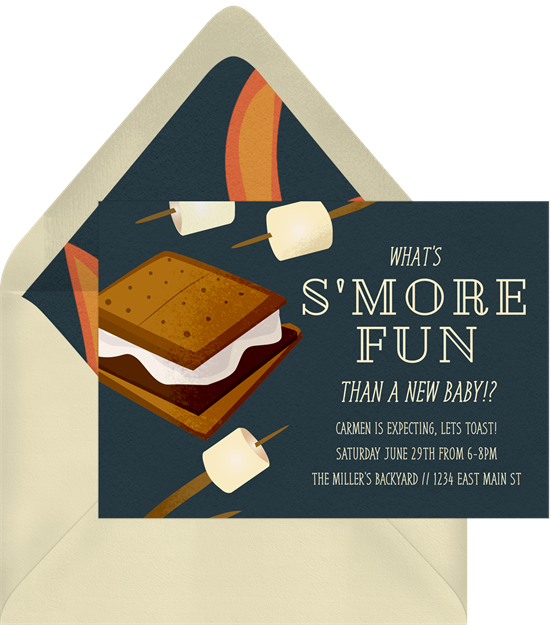 S'more Fun! baby sprinkle invitations from Greenvelope