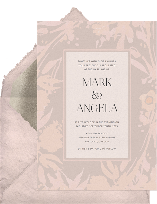 Subtle Romance winter wedding invitations from Greenvelope
