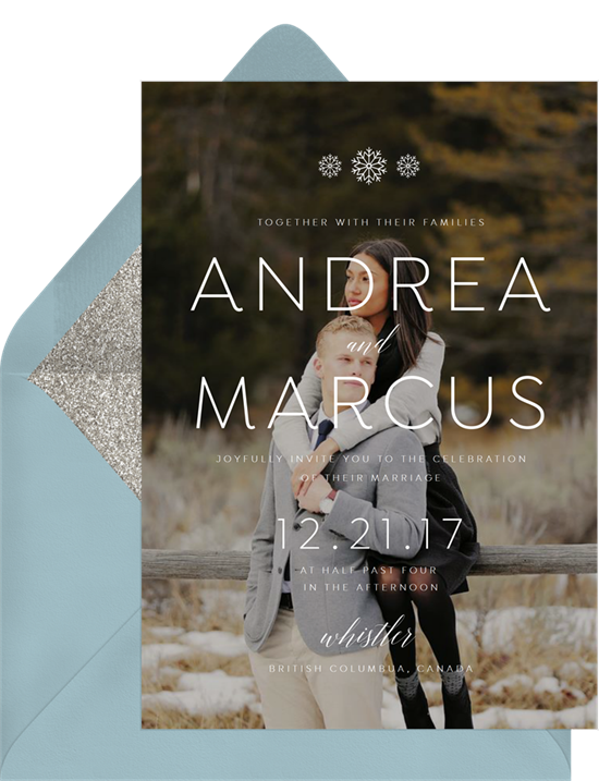 Winter Nuptials wedding invitations from Greenvelope