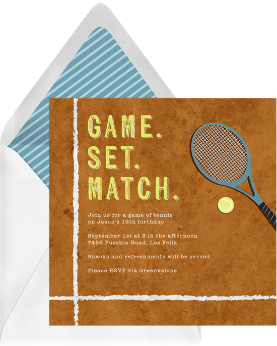 "A way to make your Valentine's Day card funny: A tennis card with a ""perfect match"" pun"
