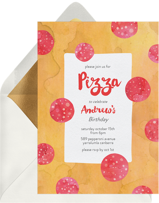 "A way to make your Valentine's Day card funny: A pizza party card turned into a valentine's day card with a ""pizza my heart"" pun"