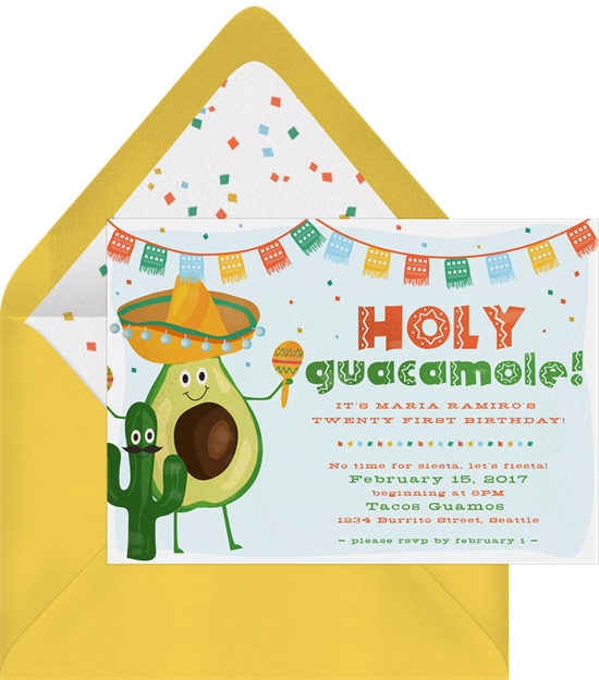 "A way to make your Valentine's Day card funny: a guacamole card with an ""Avo great Valentine's Day"" pun"