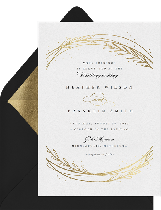 Whimsical Botanical elegant wedding invitations from Greenvelope