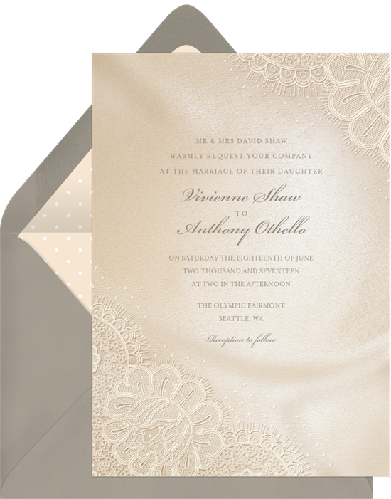 Amelie wedding invitations with RSVP
