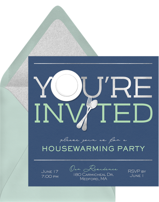 You're Invited housewarming party invitations from Greenvelope