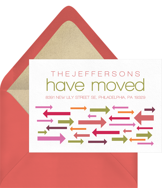 Moving Directions housewarming party invitations from Greenvelope