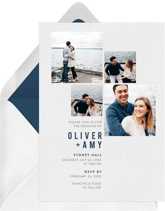 All the Photos modern wedding invitations from Greenvelope
