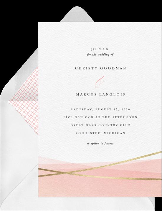 Dip Dyed modern wedding invitations from Greenvelope