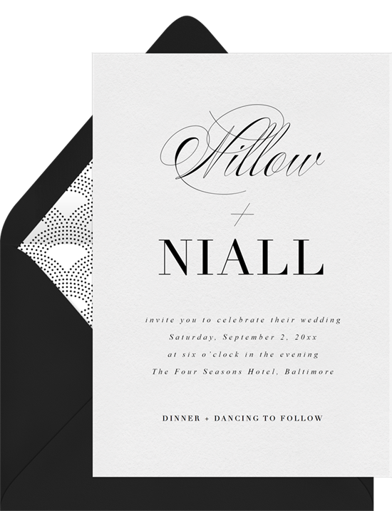 Simply Luxe modern wedding invitations from Greenvelope