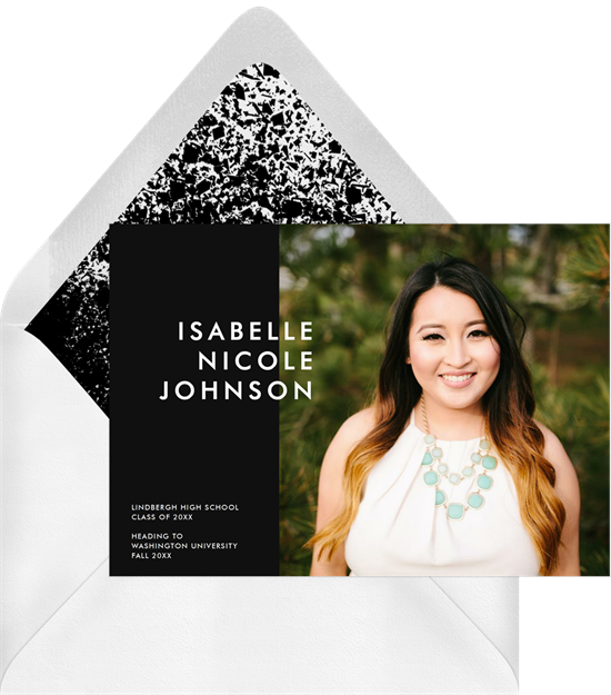 Simple Modern Grad college graduation announcements from Greenvelope