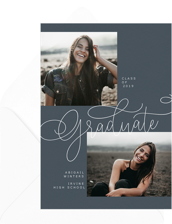 Penned college graduation announcements from Greenvelope