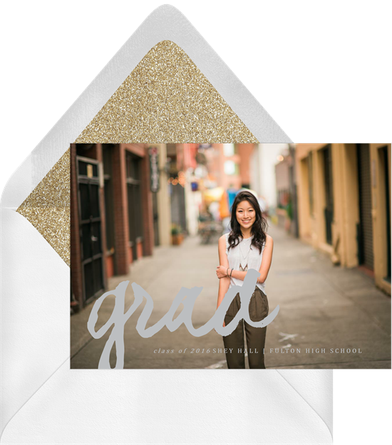 Grad Overlay high school graduation announcements from Greenvelope