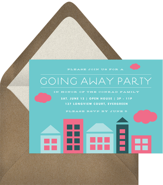 City Trek going away party invitation from Greenvelope