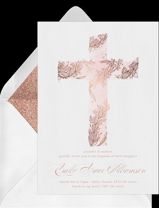 Beautiful Cross confirmation invitations from Greenvelope