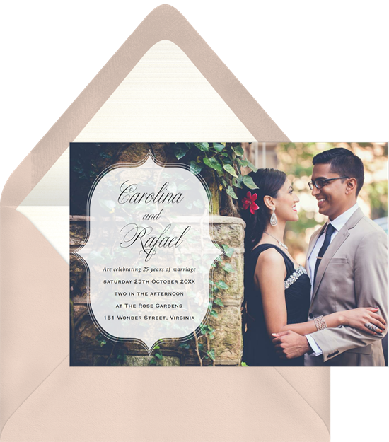 Photo Ripples anniversary invitations from Greenvelope