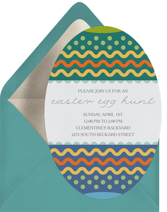 A Painted Egg card perfect for funny Easter card messages