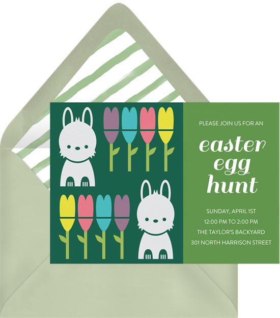 A Spring Bunnies card perfect for cute Easter card messages