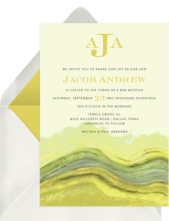 The Impressionist Landscape Bar Mitzvah Invitations from Greenvelope