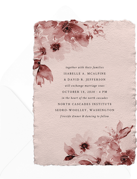 North Cascades destination wedding invitations from Greenvelope