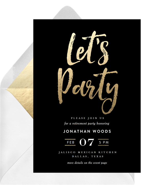 Chic Party invitations from Greenvelope