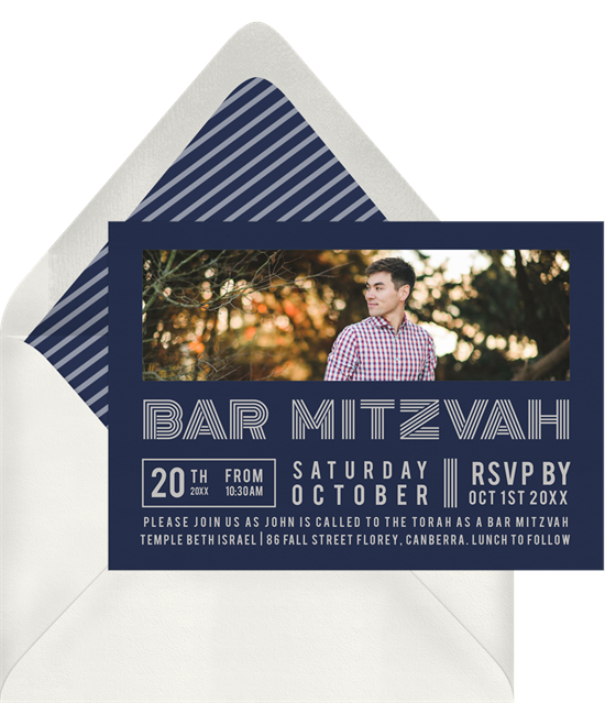 The Cool Bar Mitzvah Invitations from Greenvelope