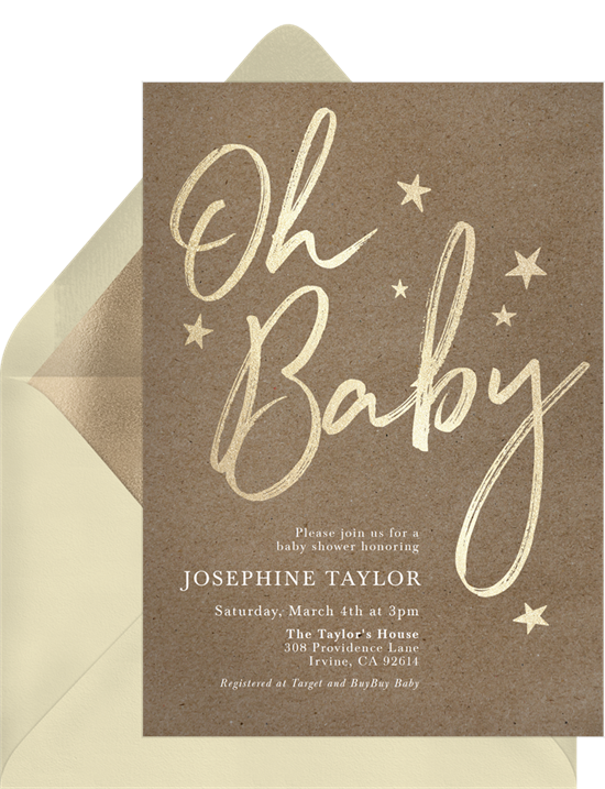 Boho Baby baby shower invitations for girls