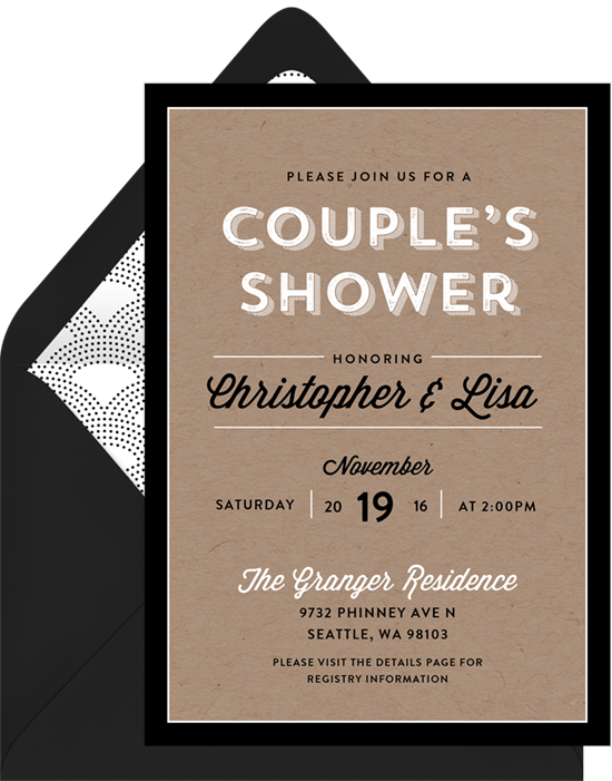 Couple's Celebration invitations from Greenvelope