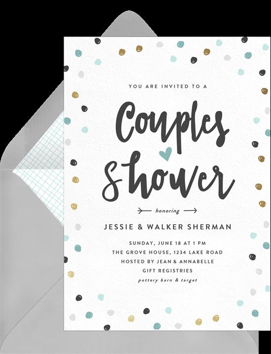 Couple's Confetti invitations from Greenvelope