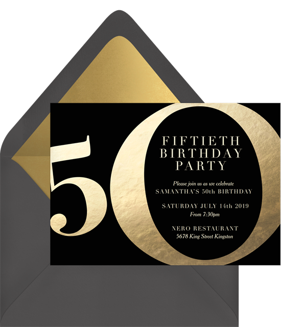 10 50th Birthday Invitations To Celebrate The Big Five-Oh