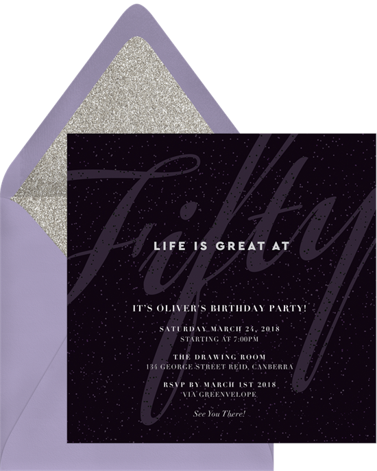 Fabulous 50th birthday invitations from Greenvelope