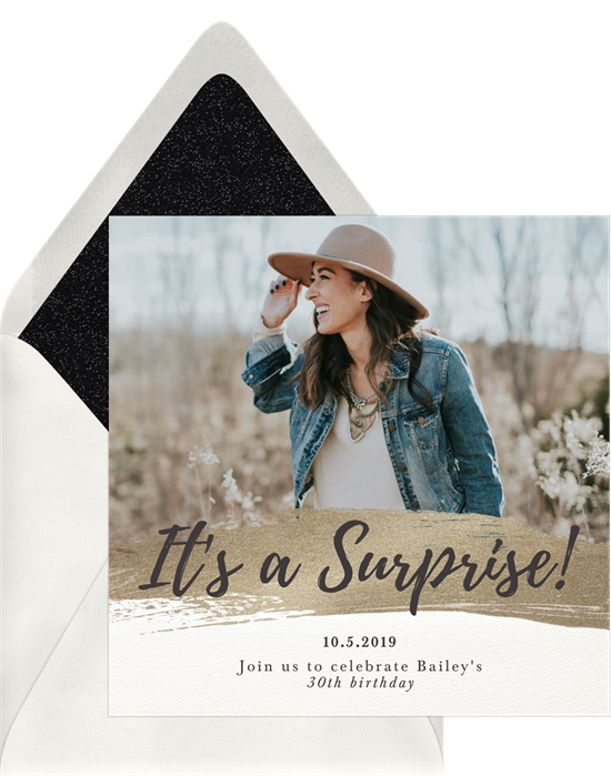 It's a Surprise! Party Invitations from Greenvelope