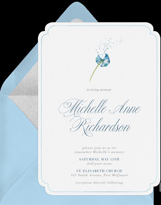 Delicate Dandelion invitation
