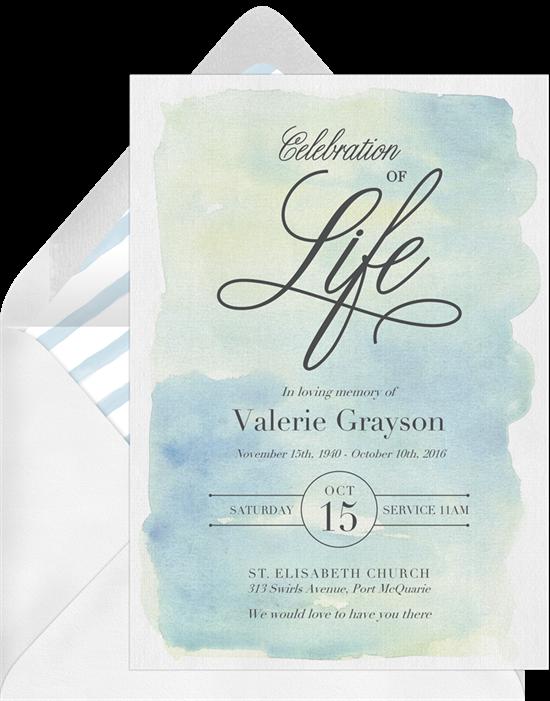 Celebrate Life Celebration of Life Invitations