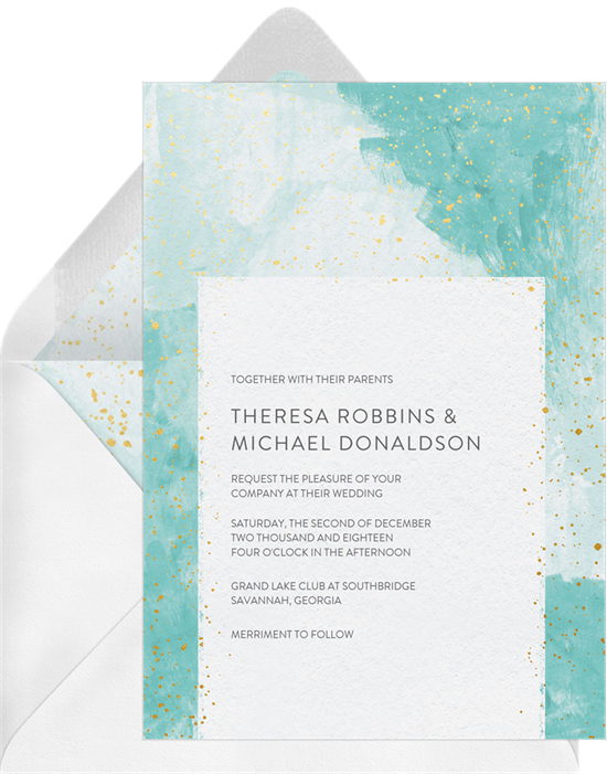 Simple Color Wedding Invitation