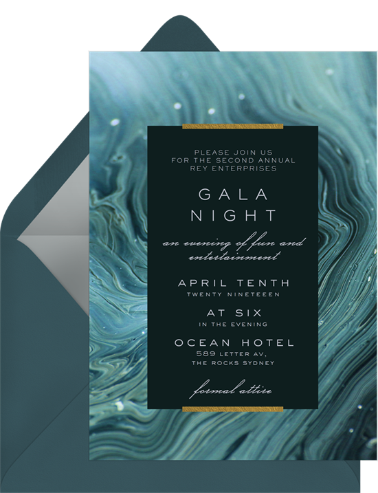 The Mineral Texture Gala Invitation from Greenvelope