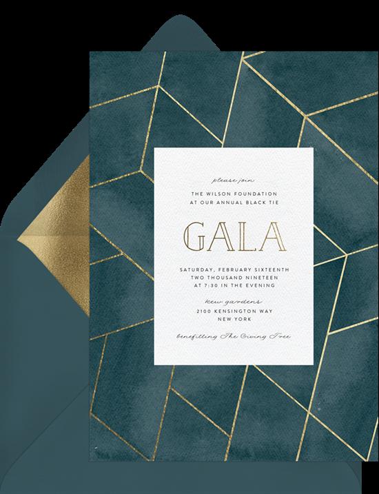 The Geometric Gala Invitation from Greenvelope