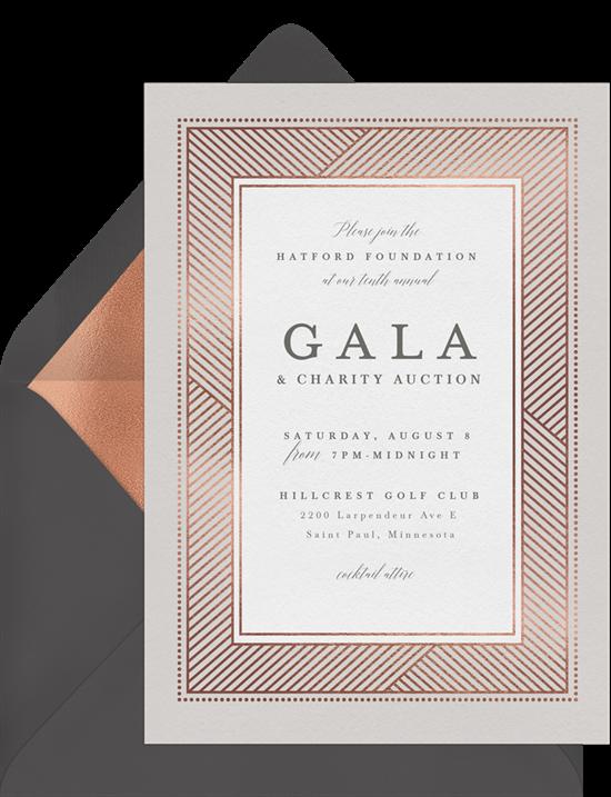The Stately Shimmer Gala Invitation from Greenvelope