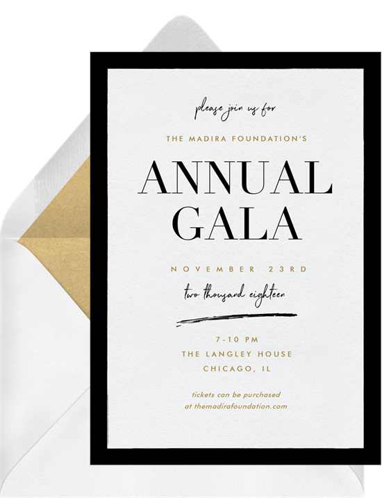 The With a Twist Gala Invitation from Greenvelope