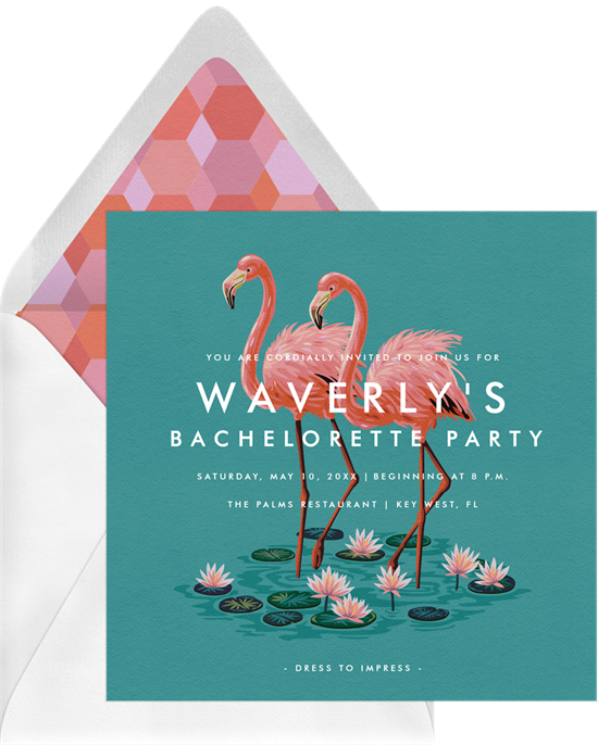 Fab Flock bachelorette party invitations from Greenvelope