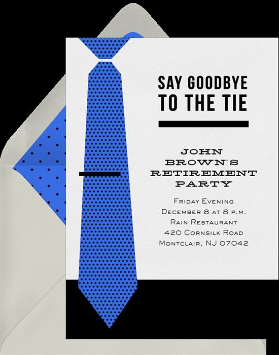 Goodbye to the Tie invite