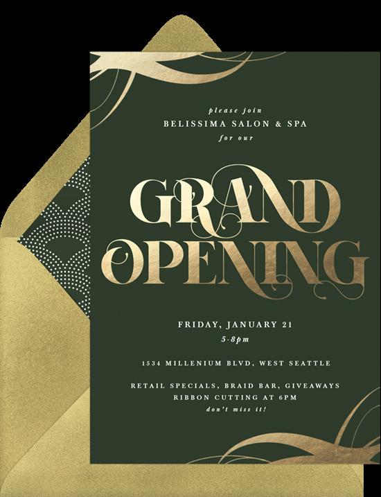 Grand Gold event invitation