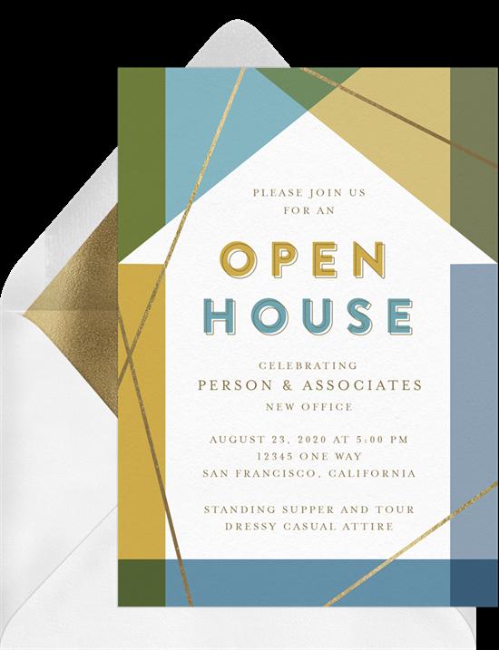 Modern House event invitation