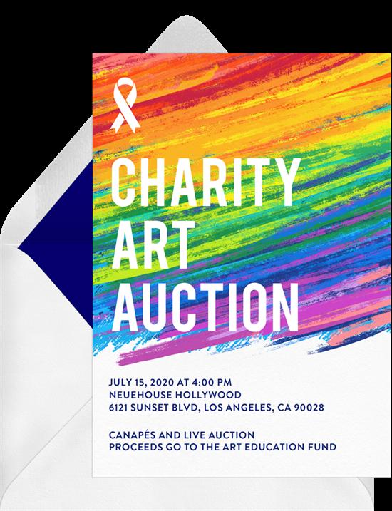 Pastel Strokes event invitation
