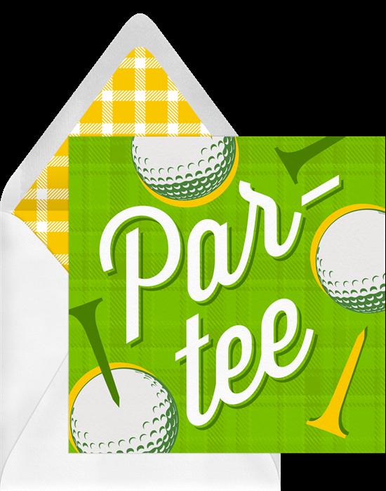 Preppy Par-Tee invite