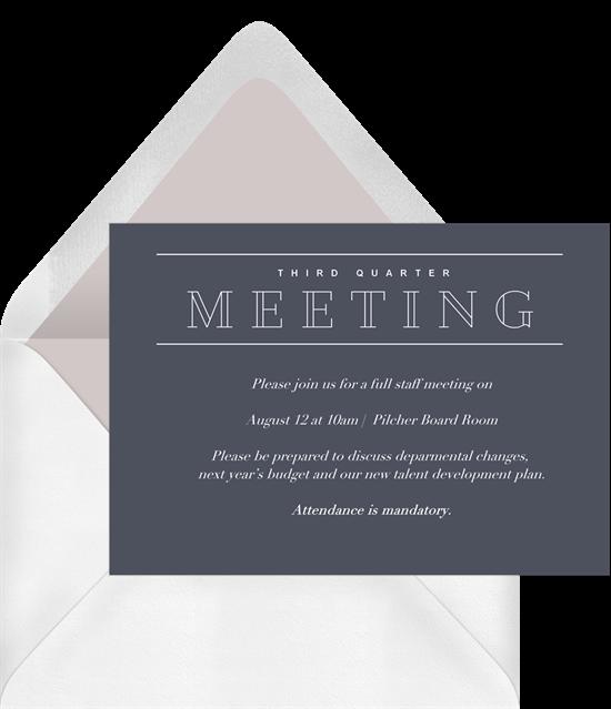 Simple Meeting invite
