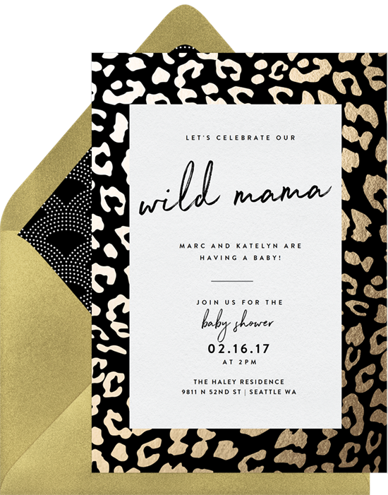 Get Wild woodland baby shower invitations from Greenvelope