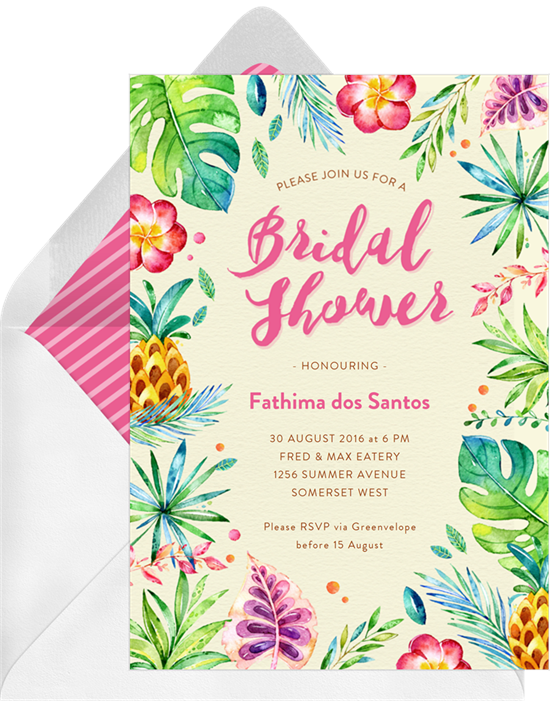 A Host S Guide To Bridal Shower Invitation Wording Stationers